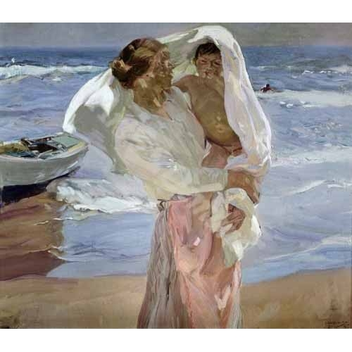 Comprar  - Cuadro Just Out of the Sea, 1915 online - Sorolla, Joaquin