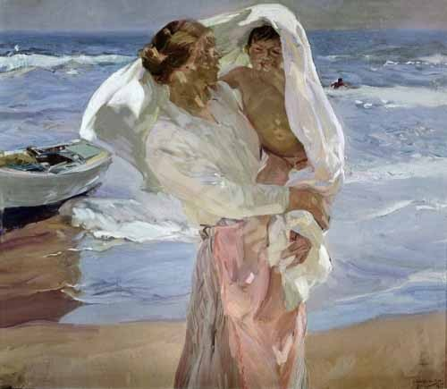 Comprar cuadros de retrato - Cuadro Just Out of the Sea, 1915 online - Sorolla, Joaquin