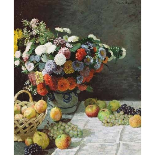 Comprar Still life paintings - Flores y Frutas, 1869 online - Monet, Claude