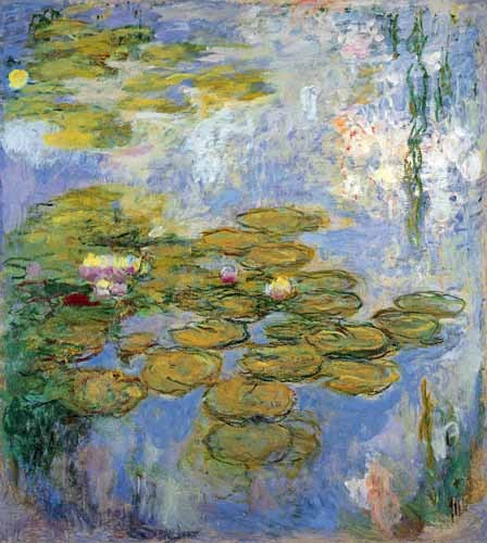 flowers - Nenufares, 1916-19 - Monet, Claude