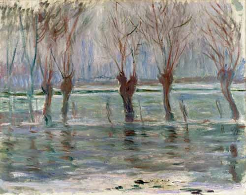 "cuadros de paisajes - Cuadro ""Flood waters at Giverny, 1896"" - Monet, Claude"