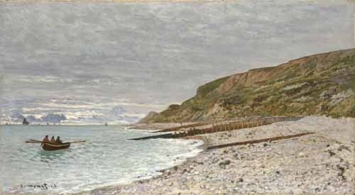 seascapes - Sainte-Adresse, La Pointe de la Hève, 1864 - Monet, Claude