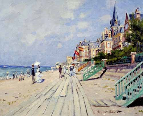 seascapes - La spiaggia a Trouville, 1870 - Monet, Claude