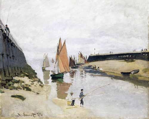 seascapes - La Entrada Del Puerto de Trouville, 1870 - Monet, Claude