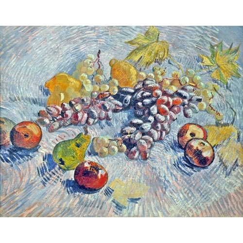 Comprar cuadros de bodegones - Cuadro Grapes, Lemons, Pears, and Apples, 1887 online - Van Gogh, Vincent