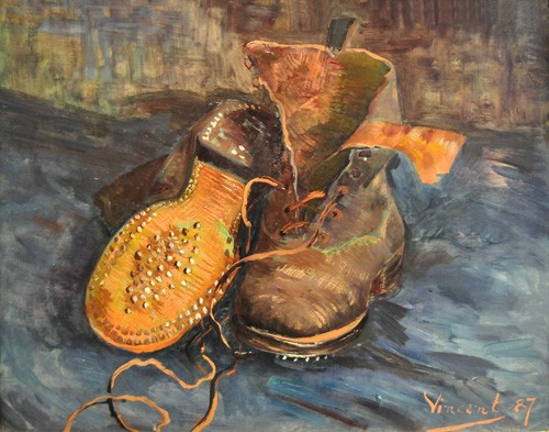 Still life paintings - A Pair of Boots - Van Gogh, Vincent