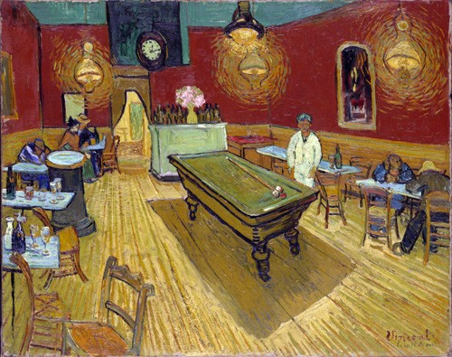 cuadros de retrato - Cuadro The Night Cafe, 1888 - Van Gogh, Vincent