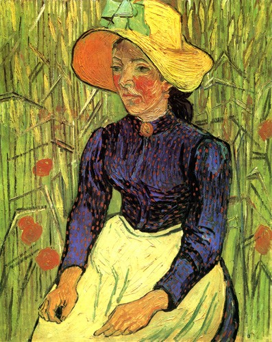 portrait and figure - La campesina - Van Gogh, Vincent
