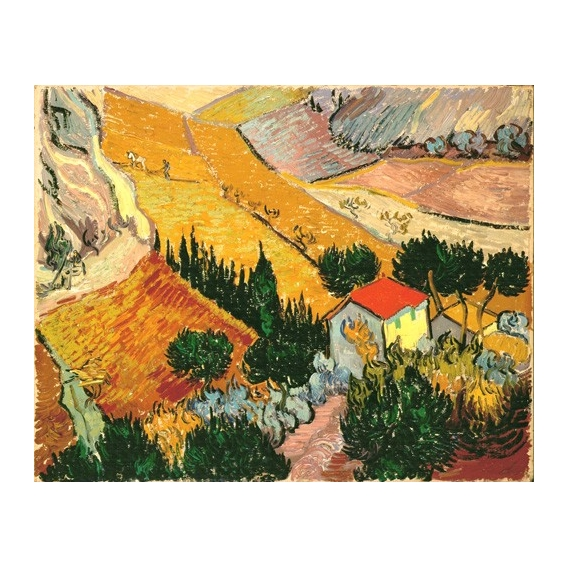 """""""Landscape with House and Ploughman, 1889"""""""