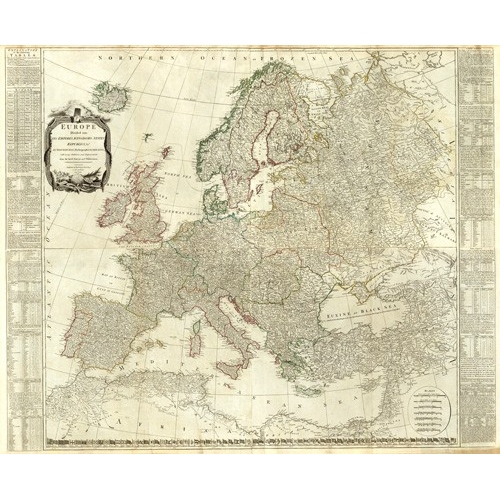 Comprar maps, drawings and watercolors - Europa (1787) online - Mapas antiguos