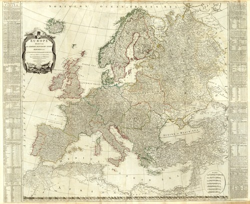 maps, drawings and watercolors - Europa (1787) - Mapas antiguos