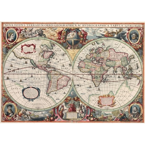 Comprar maps, drawings and watercolors - Nova totius Terrarum Orbis geographica ac hydrographica tabula online - Mapas antiguos