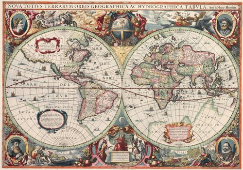 maps, drawings and watercolors - Nova totius Terrarum Orbis geographica ac hydrographica tabula - Mapas antiguos