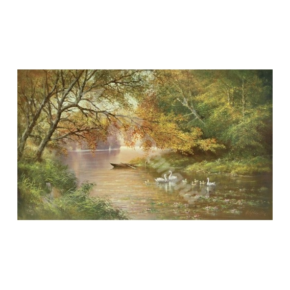 """Swan Family In Autumn"""