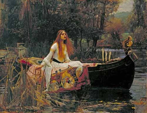 "cuadros de retrato - Cuadro ""The Lady of Shallott, 1888"" - Waterhouse, John William"