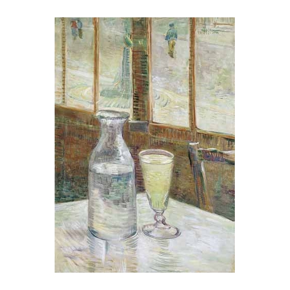 """Cafe table with absinth, 1887"""