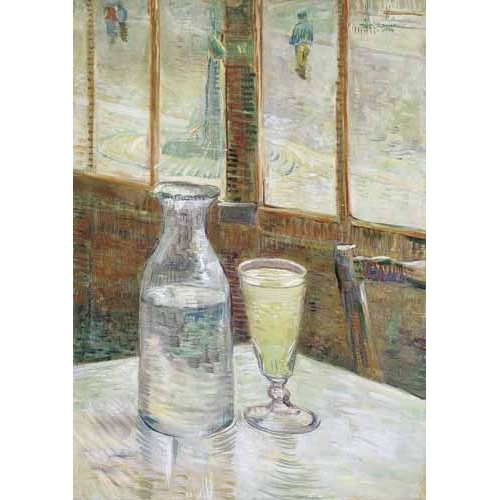 Cafe table with absinth, 1887