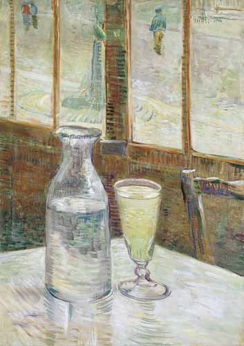 Still life paintings - Cafe table with absinth, 1887 - Van Gogh, Vincent