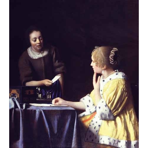 Cuadro Mistress and Maid ca. 1666-1667