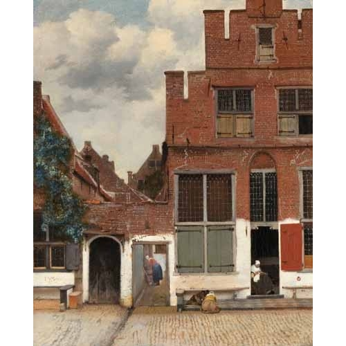 """View of Houses in Delft, known as 'The little Street', 1658"""