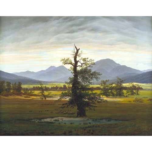Comprar landscapes - Solitary Tree (also known as Village Landscape in Morning Light online - Friedrich, Caspar David
