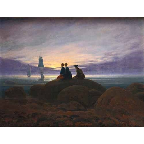 Comprar seascapes - Moonrise over the Sea, 1822 online - Friedrich, Caspar David