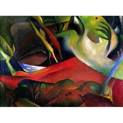 Comprar cuadros abstractos - Cuadro The storm, 1911 online - Macke, August