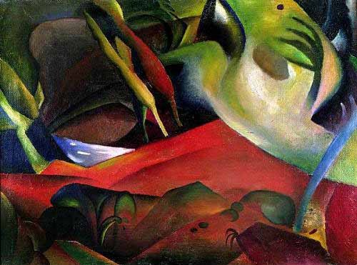 abstracts paintings - The storm, 1911 - Macke, August