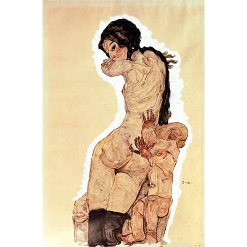 Comprar cuadros de desnudos - Cuadro Mother and Child, 1910 online - Schiele, Egon