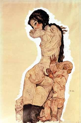 portrait and figure - Mother and Child, 1910 - Schiele, Egon