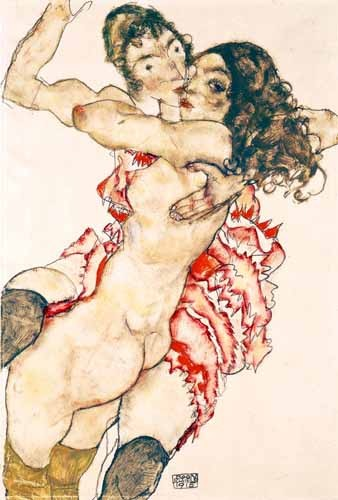 portrait and figure - Untitled - Schiele, Egon