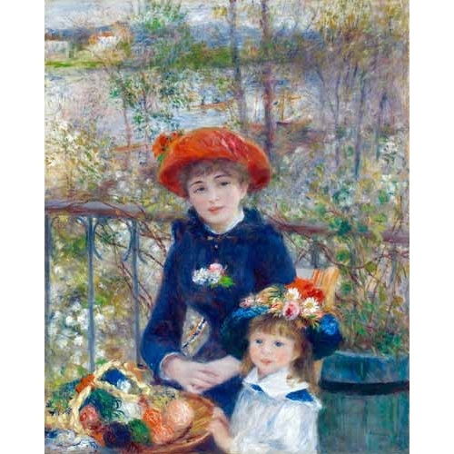 Comprar portrait and figure - Dos Hermanas, 1881 online - Renoir, Pierre Auguste