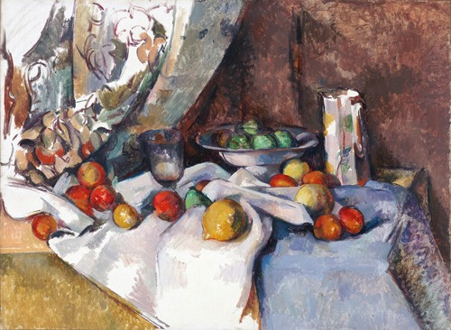 cuadros de bodegones - Cuadro Still Life with Apples, 1895-1898 - Cezanne, Paul