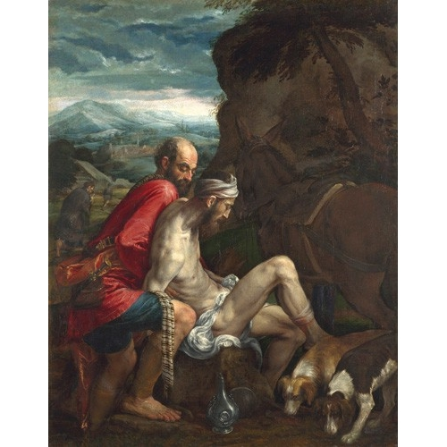 Comprar religious paintings - El Buen Samaritano (The Good Samaritan) online - Bassano, Jacopo da Ponte