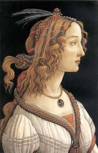 portrait and figure - Retrato femenino - Botticelli, Alessandro