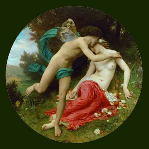 cuadros de retrato - Cuadro Flora and Zephir - Bouguereau, William