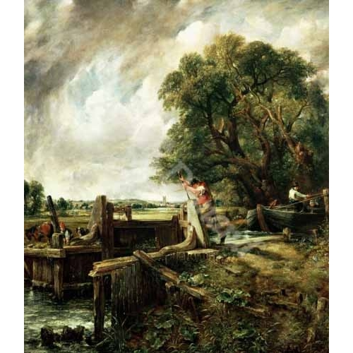 Comprar landscapes - Barges passing a lock on the Stour (La Presa) online - Constable, John