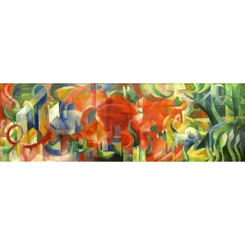 Comprar abstracts paintings - Spielende Formen, 1914 online - Marc, Franz