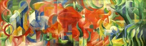 abstracts paintings - Spielende Formen, 1914 - Marc, Franz