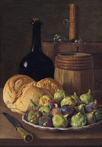 Still life paintings - Bodegon con higos y pan, 1770 - Melendez, Luis