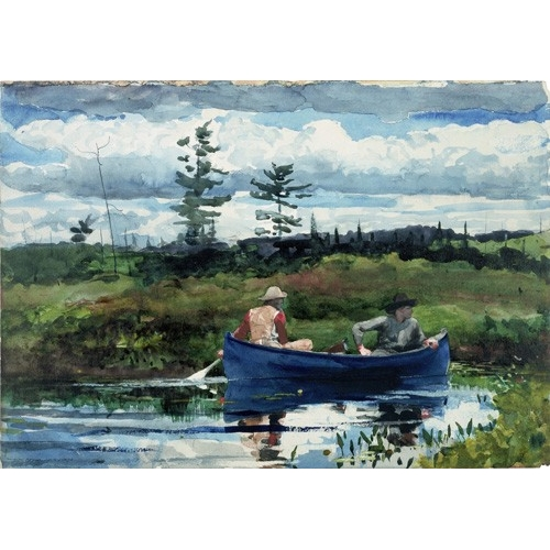 Comprar maps, drawings and watercolors - The Blue Boat, 1892 online - Homer, Winslow
