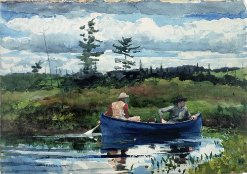 maps, drawings and watercolors - The Blue Boat, 1892 - Homer, Winslow