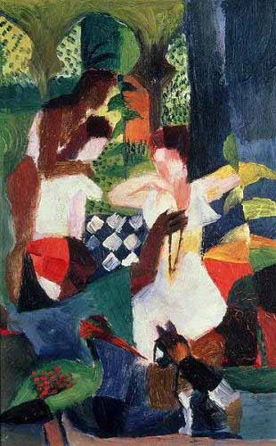 "cuadros abstractos - Cuadro ""The turkish jeweller"" - Macke, August"