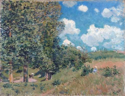 cuadros de paisajes - Cuadro The Road from Versailles to Saint-Germain, 1875 - Sisley, Alfred