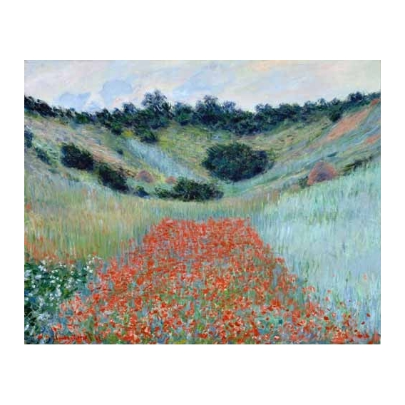 """Poppy Field in a Hollow near Giverny, 1885"""
