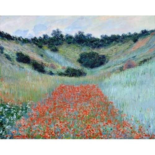 Cuadro Poppy Field in a Hollow near Giverny, 1885