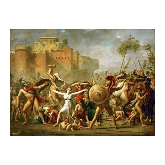 """The Sabine women halting the battle between Romans and Sabines,"