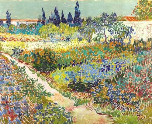 landscapes - Garden at Arles, 1888 - Van Gogh, Vincent