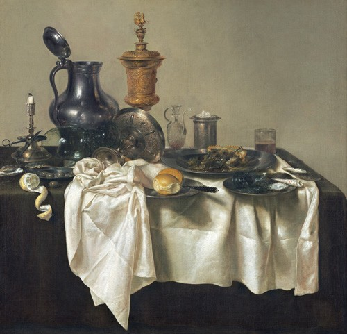 Still life paintings - Banquet Piece with Mince Pie, 1635 - Heda, Willem Claesz