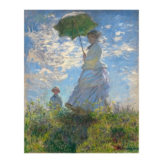 """Woman with a Parasol - Madame Monet and Her Son, 1875"""